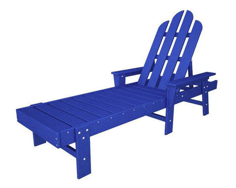 Polywood ECC76PB Long Island Chaise in Pacific Blue - PolyFurnitureStore