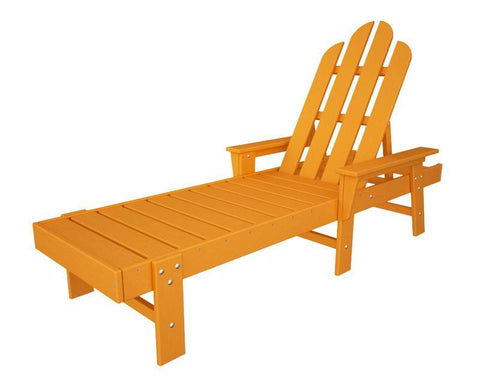 Polywood ECC76TA Long Island Chaise in Tangerine - PolyFurnitureStore