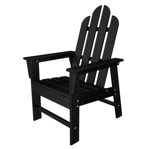 Polywood ECD16BL Long Island Dining Chair in Black - PolyFurnitureStore