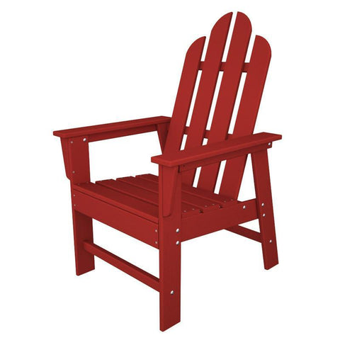 Polywood ECD16SR Long Island Dining Chair in Sunset Red - PolyFurnitureStore