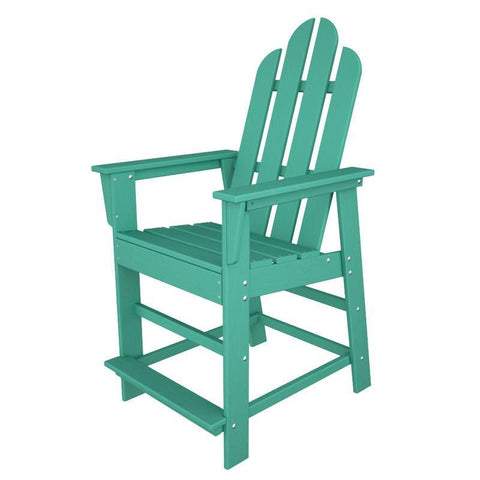 Polywood ECD24AR Long Island Counter Chair in Aruba - PolyFurnitureStore