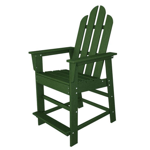 Polywood ECD24GR Long Island Counter Chair in Green - PolyFurnitureStore