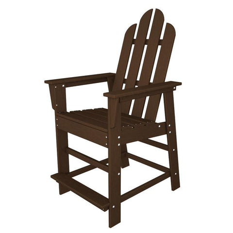 Polywood ECD24MA Long Island Counter Chair in Mahogany - PolyFurnitureStore