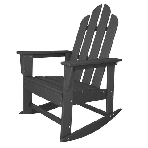 Polywood ECR16GY Long Island Rocker in Slate Grey - PolyFurnitureStore