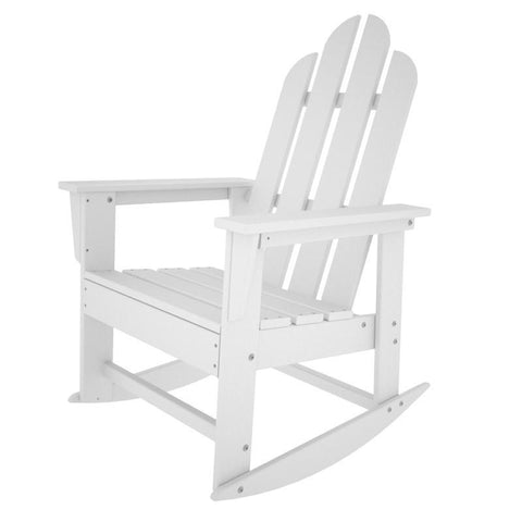 Polywood ECR16WH Long Island Rocker in White - PolyFurnitureStore