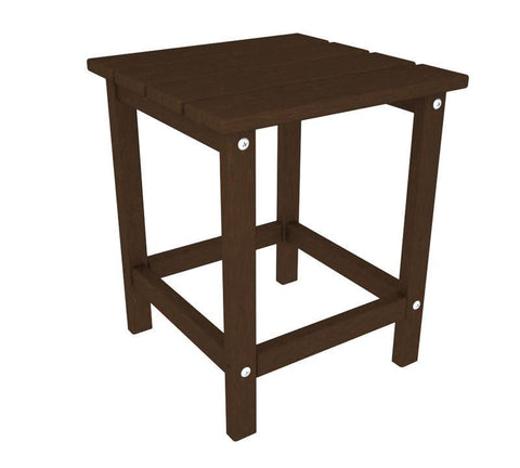 "Polywood ECT18MA Long Island 18"" Side Table in Mahogany - PolyFurnitureStore"