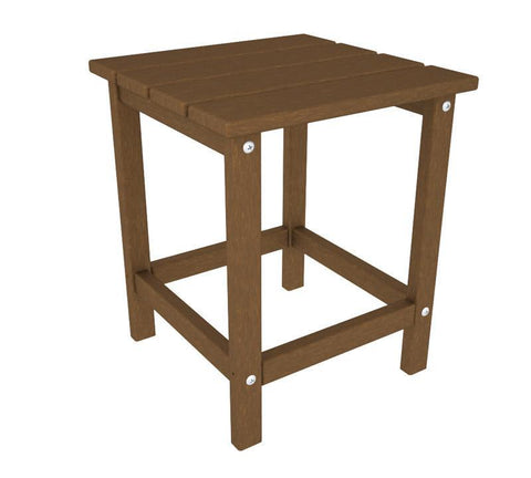 "Polywood ECT18TE Long Island 18"" Side Table in Teak - PolyFurnitureStore"