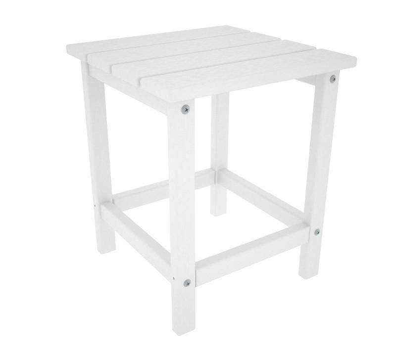 Polywood ECT18WH Long Island 18 Side Table in White