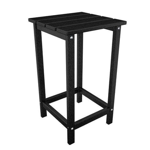 "Polywood ECT26BL Long Island 26"" Counter Side Table in Black - PolyFurnitureStore"