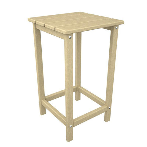 "Polywood ECT26SA Long Island 26"" Counter Side Table in Sand - PolyFurnitureStore"