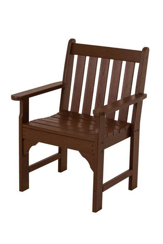 Polywood GNB24MA Vineyard Garden Arm Chair in Mahogany - PolyFurnitureStore