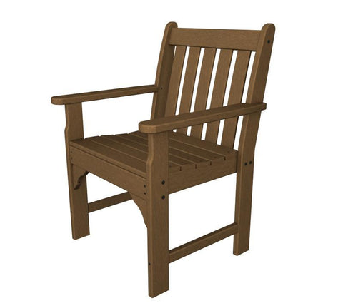 Polywood GNB24TE Vineyard Garden Arm Chair in Teak - PolyFurnitureStore