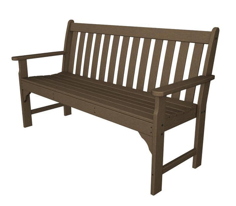 "Polywood GNB60TE Vineyard 60"" Bench in Teak - PolyFurnitureStore"