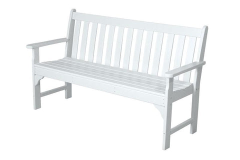 "Polywood GNB60WH Vineyard 60"" Bench in White - PolyFurnitureStore"