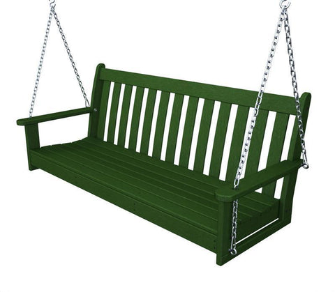 "Polywood GNS60GR Vineyard 60"" Swing in Green - PolyFurnitureStore"