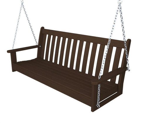 "Polywood GNS60MA Vineyard 60"" Swing in Mahogany - PolyFurnitureStore"