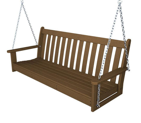 "Polywood GNS60TE Vineyard 60"" Swing in Teak - PolyFurnitureStore"