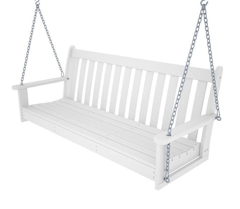 "Polywood GNS60WH Vineyard 60"" Swing in White - PolyFurnitureStore"