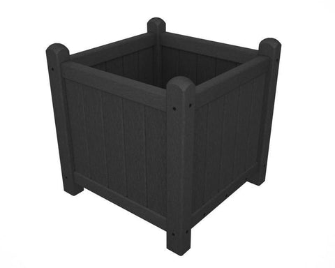 "Polywood GP16GY Traditional Garden 16"" Planter in Slate Grey - PolyFurnitureStore"
