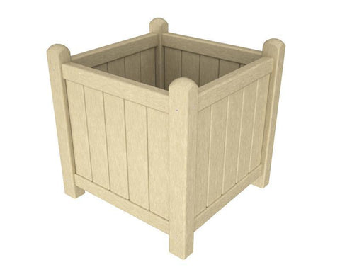 "Polywood GP16SA Traditional Garden 16"" Planter in Sand - PolyFurnitureStore"