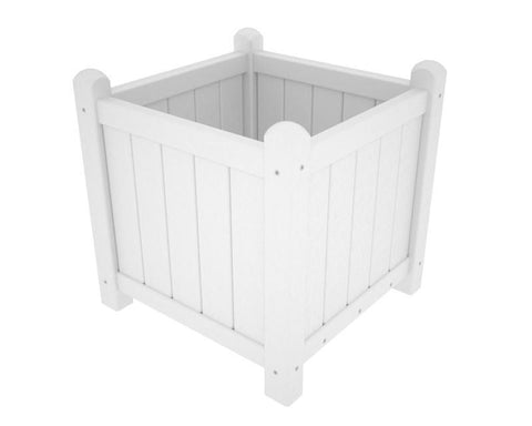 "Polywood GP16WH Traditional Garden 16"" Planter in White - PolyFurnitureStore"