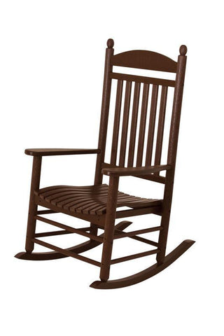 Polywood J147MA Jefferson Rocker in Mahogany - PolyFurnitureStore