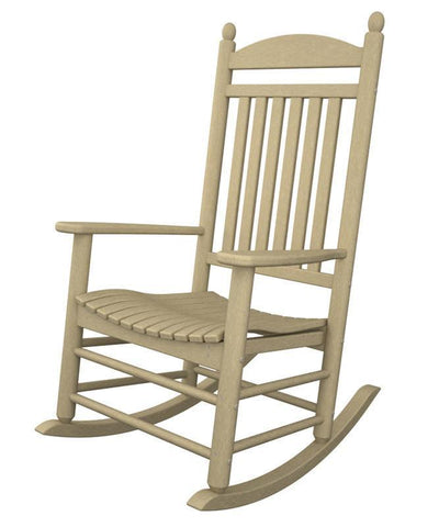 Polywood J147SA Jefferson Rocker in Sand - PolyFurnitureStore