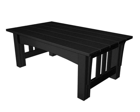 Polywood MS2748BL Mission Coffee Table in Black - PolyFurnitureStore