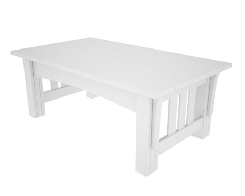 Polywood MS2748WH Mission Coffee Table in White - PolyFurnitureStore