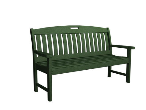 "Polywood NB60GR Nautical 60"" Bench in Green - PolyFurnitureStore"