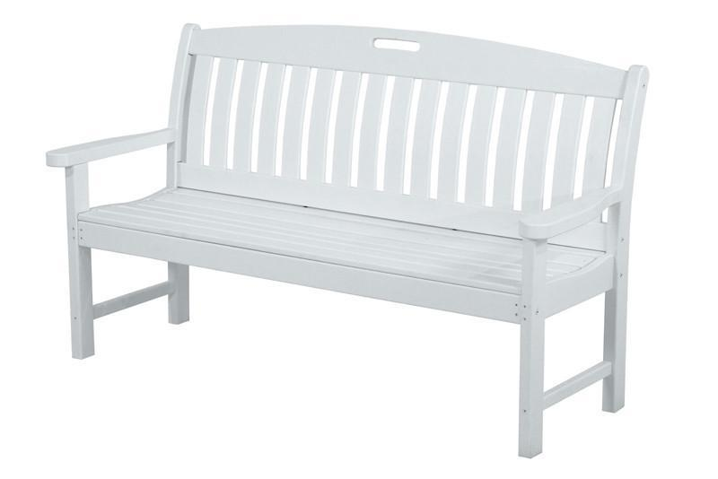 Polywood NB60WH Nautical 60 Bench in White