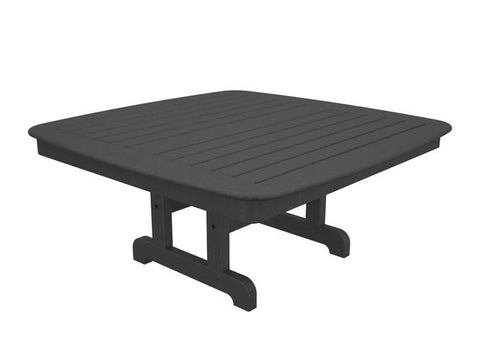 "Polywood NCCT44GY Nautical 44"" Conversation Table in Slate Grey - PolyFurnitureStore"