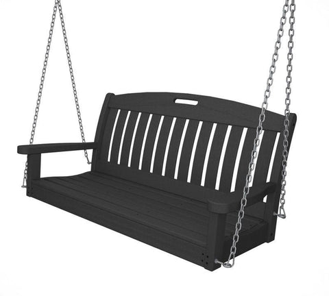 "Polywood NS48GY Nautical 48"" Swing in Slate Grey - PolyFurnitureStore"