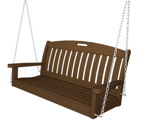 "Polywood NS48TE Nautical 48"" Swing in Teak - PolyFurnitureStore"