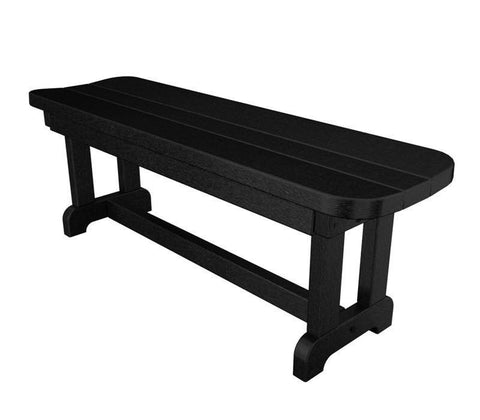 "Polywood PBB48BL Park 48"" Backless Bench in Black - PolyFurnitureStore"