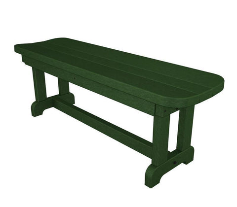 "Polywood PBB48GR Park 48"" Backless Bench in Green - PolyFurnitureStore"