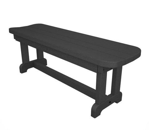 "Polywood PBB48GY Park 48"" Backless Bench in Slate Grey - PolyFurnitureStore"