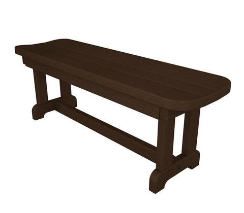 "Polywood PBB48MA Park 48"" Backless Bench in Mahogany - PolyFurnitureStore"