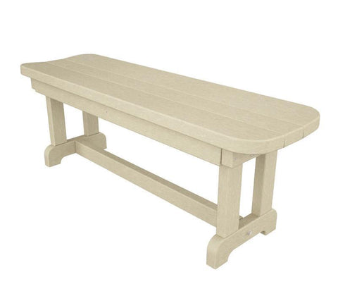 "Polywood PBB48SA Park 48"" Backless Bench in Sand - PolyFurnitureStore"