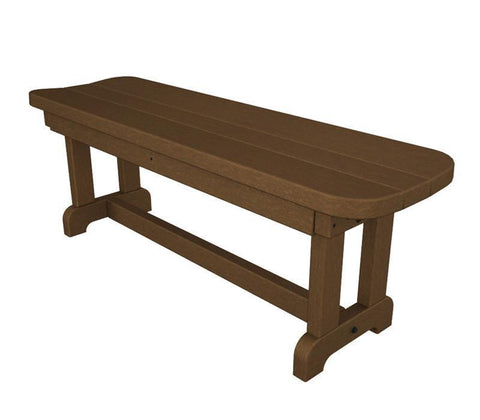 "Polywood PBB48TE Park 48"" Backless Bench in Teak - PolyFurnitureStore"