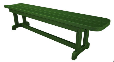 "Polywood PBB72GR Park 72"" Harvester Backless Bench in Green - PolyFurnitureStore"