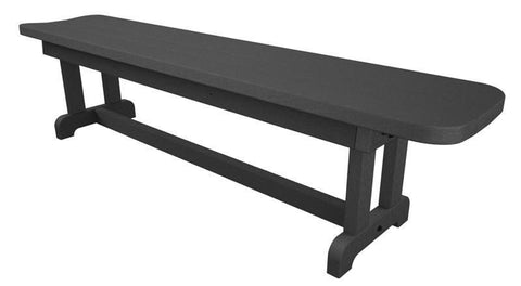 "Polywood PBB72GY Park 72"" Harvester Backless Bench in Slate Grey - PolyFurnitureStore"