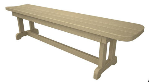 "Polywood PBB72SA Park 72"" Harvester Backless Bench in Sand - PolyFurnitureStore"