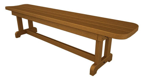 "Polywood PBB72TE Park 72"" Harvester Backless Bench in Teak - PolyFurnitureStore"