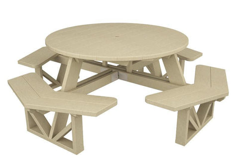 "Polywood PH53SA Park 53"" Octagon Table in Sand - PolyFurnitureStore"