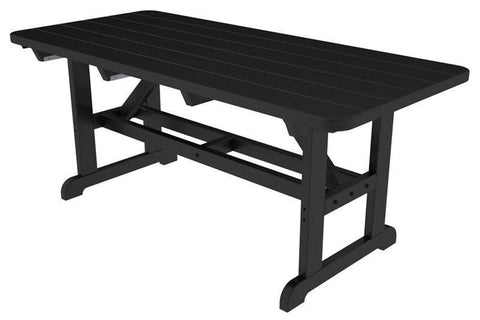 "Polywood PT3672BL Park 36"" x 72"" Harvester Picnic Table in Black - PolyFurnitureStore"