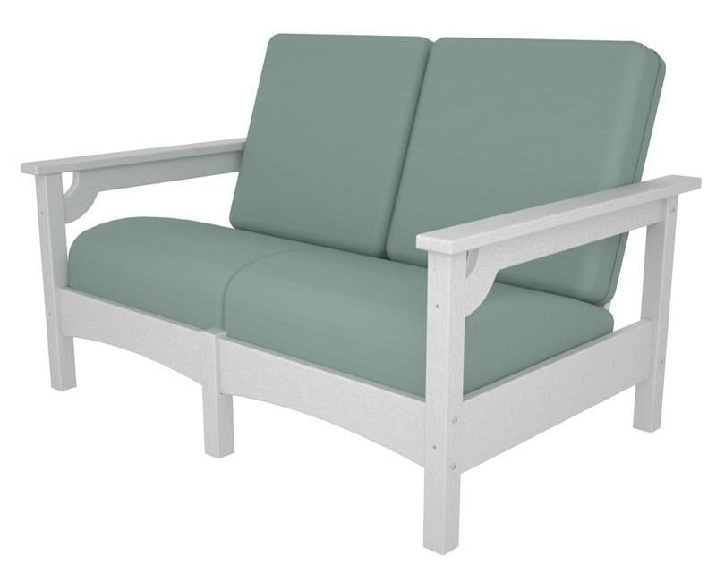 Polywood Settee White Spa Club