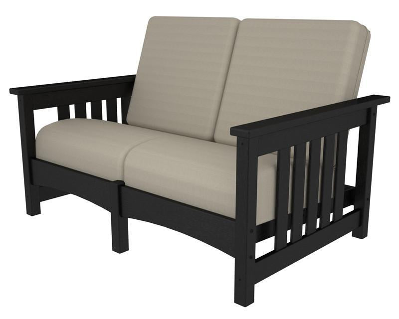 Polywood Settee Black Birds Eye Mission