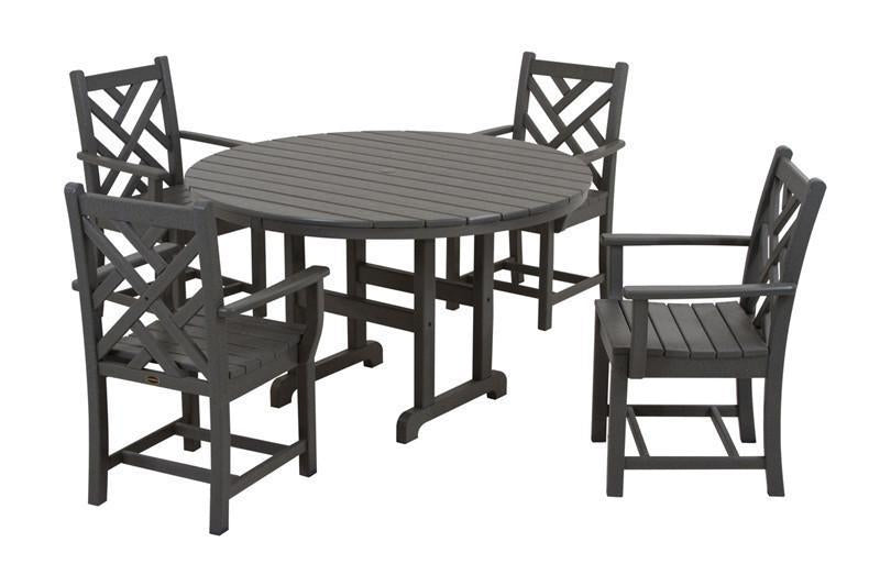 Dining Set Slate Grey Chippendale 187 Product Photo