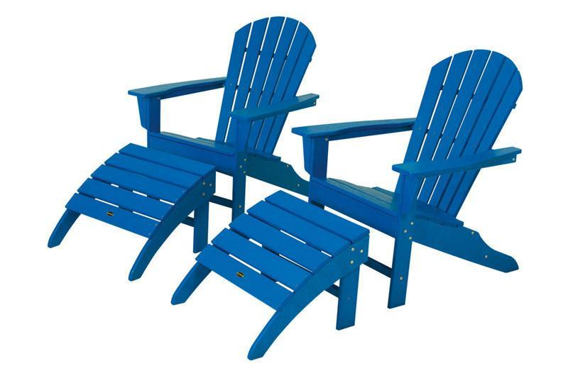 Beach Adirondack Set Pacific Blue South 1631 Product Photo